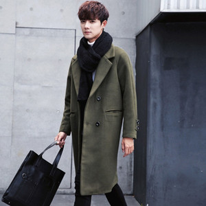 Wholesale Autumn Winter Jackets Coats Single Breasted Casual Mens Wool Blend Jackets Full Winter For Male Wool Overcoat Manteau Homme