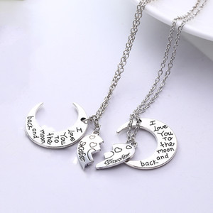 Wholesale Fashion Jewelry Mother Daughter Classic Sweater Pendant Necklace Women Chic Jewelry Winter Beautiful Elegant Charm Necklaces