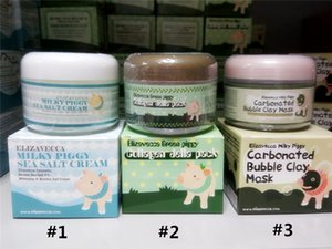 Elizavecca Milky Piggy Carbonated Bubble Clay Mask Green Piggy Collagen Jella Pack Pig Mask Milky Piggy Sea Salt Cream