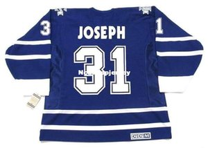 custom Mens Jerseys CURTIS JOSEPH Toronto Maple Leafs 2001 CCM Vintage Cheap Retro Hockey Jersey on Sale