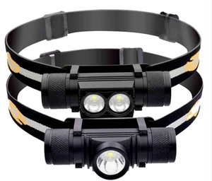 XM-L2 Mini LED Headlamp USB Rechargeable 18650 Batttery Portable Waterproof Fishing Bike Cycling headlight Torch light Aluminum Alloy