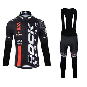 Wholesale Factory Direct Sale ROCK RACING Men Cycling Jerseys Kits breathable quick dry long sleeve racing bike clothing bicycle sports suit Y