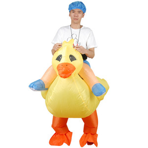 Inflatable Costume Christmas Cosplay Little Yellow Duck Costume Christmas Gift For Women Men Funny Inflatable Costume