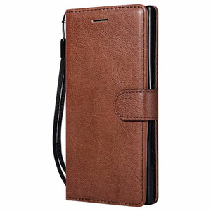 Wholesale Wallet Case For Sony Xperia XZ Flip Cover Pure Color PU Leather Mobile Phone Bags Coque Fundas For Sony XZ