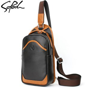 Wholesale SAPAOL Genuine Leather Man Fashion Messenger Casual Travel Chest Bag Back Pack Men s Shoulder Bag Multifunction Small Travel