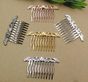 20pc Lot 10Teeth 6Color Hair Tuck Comb Hair Bobby Pin clip,Antique Bronze Gold Silver Black Hairpin DIY Handmade Vintage Jewelry