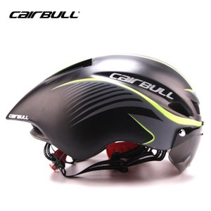 Wholesale CAIRBULL MTB Road Bicycle Helmet With Goggles Triathlon Cycling Helmet Integrally Molded Aerodynamic Bike Ciclismo