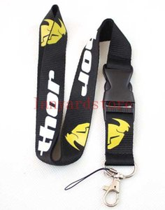 Wholesale 10pcs The popular riding glove brand LOGO THOR Cell Phone Charm Clothing brand neck strap key chain lanyard for cell phone straps