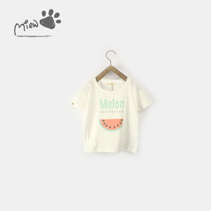 Wholesale new design kids shirts resale online - 8 Photos NEW girs Kids t shirt sets Cotton plaid with watermelon design summer girl s set causal girl t shirt pant kids clothing