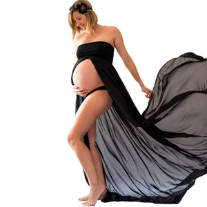 Women Maternity Dress For Photo Shooting Pink Summer Chiffon Dress Maternity Photography Props Pregnant Pregnancy Clothing