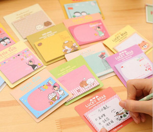 7.4*5cm Cartoon Cute Animal Panda Elephant Creativity Self-adhesive Memo Pad Sticky Notes