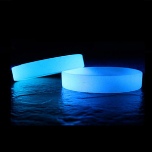 Wholesale 2pcs Luminous Bracelet Hologram Silicone Wristband Friendship angle Hand Band Gifts Blue Yellow Green Glow In The Dark