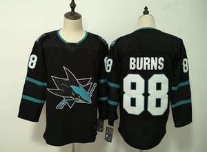 Wholesale New San Jose Sharks Jerseys Burns New Hockey Jerseys Black Teal Green Color C Size S XXXL Mix Order High Quality All Jerseys