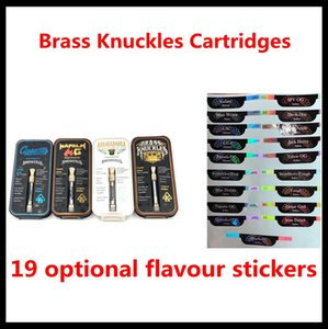 Brass Knuckles Cartridges Pyrex Glass 0.5ml 1.0ml Gold BUD Touch Thick Oil Atomizer Vape Pen Tank free DHL
