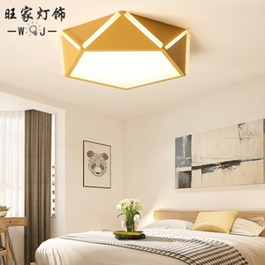 master bedroom light geometry study marriage room lighting diamond contemporary and contracted LED lamps and lanterns on Sale