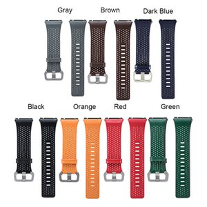Wholesale 2017 Replacement Sport Band Strap For Fitbit Ionic Perforated Genuine Leather Accessory Band Bracelet Watchband Smart Watch Wristband