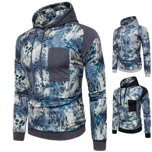 Hot Sale England Style Men's Hoodies Patchwork Printed Solid Pullover Hooded Long Sleeved Autumn Spring Tops on Sale
