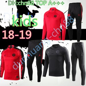 Wholesale 2018 PSG kids MBAPPE Paris Jordam jacket tracksuit KIDS PSg CAVANI football jackets Paris training suit jacket