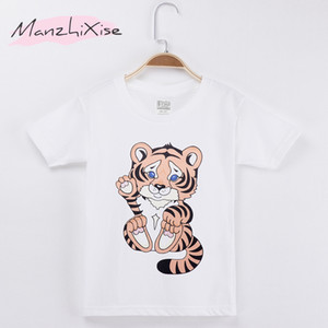 Wholesale teen clothes for sale - Group buy 2018 New Children T shirt Cute Little Tiger Kawaii Cotton Child Shirts Kids Boy Short T Shirt Baby Clothing Girl Tops Tee Teens Clothes