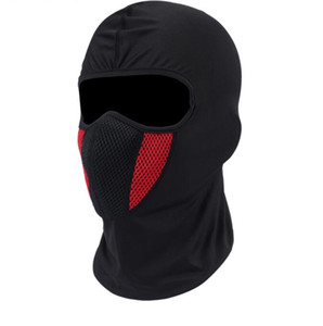 mascarilla para paintball al por mayor-Balaclava Moto Máscara de la motocicleta Tactical Airsoft Paintball Ciclismo Bike Ski Army Casco Protección Máscara de cara completa