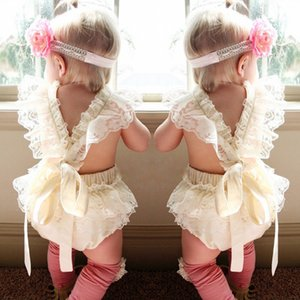 Lovely Infant Baby Girl Clothes Lace Floral Princess Bodysuit Romper Cake Sunsuit Outfits 0-18Months Hot Selling K0248