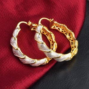 Wholesale Thick Big Circle Earrings color k Gold Filled Womens Hoop Earrings Sexy Newest Style Classic Jewelry Accessories