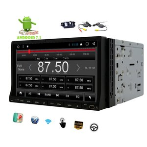 ingrosso android dash doppio din-Wireless Camera Car dvd Stereo Android Touchscreen Doppia Din G RAM in Dash P Video Octa Core Navigazione GPS Wifi Bluetooth