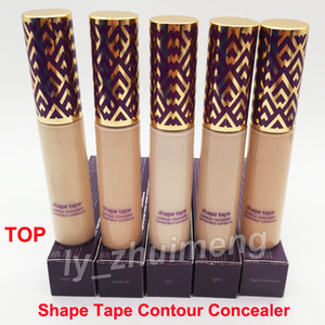 High quality Shape Tape contour Concealer foundation 5 colors medium Fair Light Medium Light sand concealers 10ml liquid foundation Cream