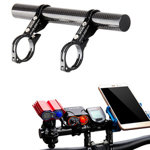 Wholesale GUB CM Bike Carbon Fiber Double Handlebar Extender Headlight Lamp Speedometer Holder Mount Bicycle Handlebar Extender