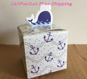 Wholesale gift baby shower for sale - Group buy Pieces Wedding and Party Favor box of Dolphin design Wedding gift box For Baby shower and Baby birthday gift box favor