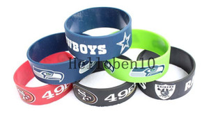 Wholesale New goods rugby team leather bracelet different colors can be selected pure leather