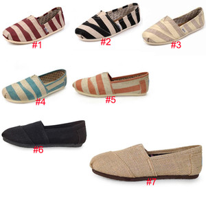 7 Colors TOM Sneakers Slip-On Casual Lazy Shoes for Women Men Canvas Loafers Flats Size 35-45 Classics Flax Zebra Designer Shoes on Sale