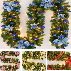 Wholesale DIY Christmas Decorations Rattan Bar Tops Ribbon Christmas Home Decoration Garland Christmas Tree Ornaments m HH7