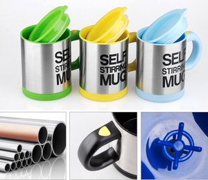 Wholesale Automatic Electric Self Stirring Mug Coffee Mixing Drinking Cup Stainless Steel ml Self Stirring Coffee Mug With Retail Box