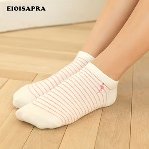 Wholesale EIOISAPRA New Product Embroidery Pair Bird Socks Women Breathable Comfort Antiskid Meias Slippers Ship Ankle Socks No B