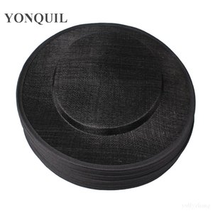 Black round 31CM sinamay big size hats fascinator base for women DIY fascinator hair accessories cocktail millinery hats 6pieces lot MYQH26