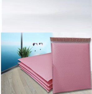Wholesale 10pcs Pink poly bubble mailers padded envelopes cm x cm plastic wrap envelop bubble mailer gift pack delivery bags