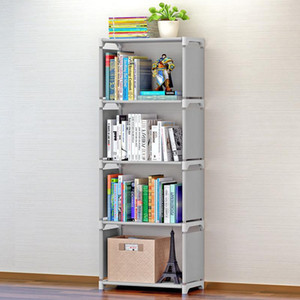 Wholesale metal shelves resale online - Simple Waterproof Storage Bookshelf Modern Metal Bookcase Stacks Originality Shelf Ground Children Office Organizer Stuff Supplies sr ff