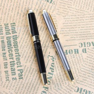 Wholesale JINHAO X250 Art Fountain Pen Pull type Cap Curving nib Writing Painting Gift black and sier J18 dropshipping