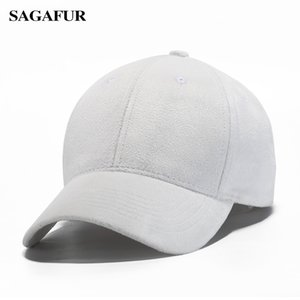 Wholesale SAGAFUR Solid Color Flocking Baseball Caps For Boy Girl Spring Summer New Design Mens Peaked Cap Simple Style Unisex Hat