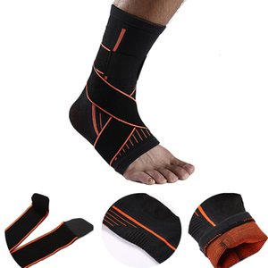 Wholesale Adjustable Sports Elastic Ankle Breathable Ankle Brace Wrap Pad Foot Protection Compression Sport Stretched Support FBA Drop Shipping G443S