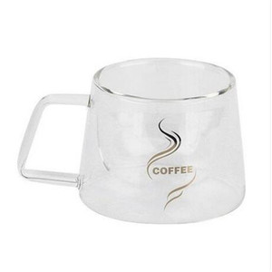 Wholesale hot sales Double Layer Glass Coffee Mug Cup Water Bottle Fashion Design Heat Resistant cup