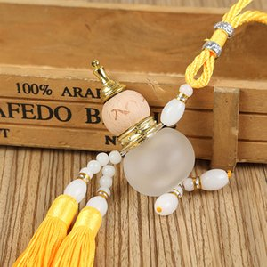 Wholesale Car Pendant Jade Gourd Tassel Perfume Automobile Chinese Style Rearview Mirror Lucky Decoration Traditional Car Ornaments