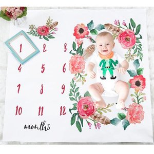 Wholesale Baby Blanket Children Picture Blanket Boys Girls Photo Blankets Wrap Birthday Flowers Figure Exquisite Accessory Parents Convenient my dd