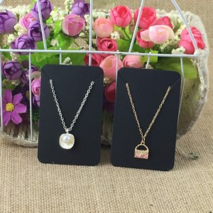 Wholesale New Style cm Black Kraft Paper Blank Necklace Cards Earring Cards Jewelry Classic Display Card
