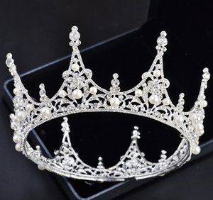 Bridal Tiara European Round Crown Hair Accessories Wedding Tiara