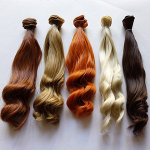 Hot Sale 5PCS LOT BJD Hair Curly 25CM Synthetic Hair For Doll Wigs DIY on Sale