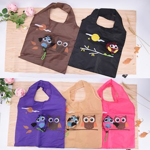 Wholesale Cute Animal Owl Shape Folding Shopping Bag Eco Friendly Ladies Gift Foldable Reusable Tote Bag Portable Travel Shoulder