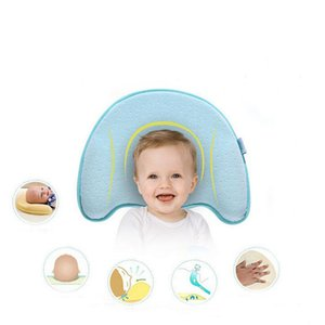Wholesale infant head shape pillow for sale - Group buy 1 Months Newborn Baby Velcet Cotton Memory Foam Pillow Infant Corrective Head Pillow Headrest Shaping Pillow