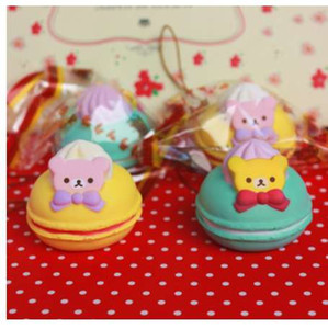 Wholesale rilakkuma handbags for sale - Group buy cm original kawaii squishy Rilakkuma Macaron cake queeze toys cell phone handbags straps squishies bread